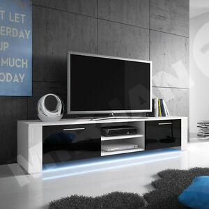 Details Zu Tv Lowboard Carol Ix Mit Beleuchtung Tv Schrank Led Tv Tisch Sideboard Hochglanz