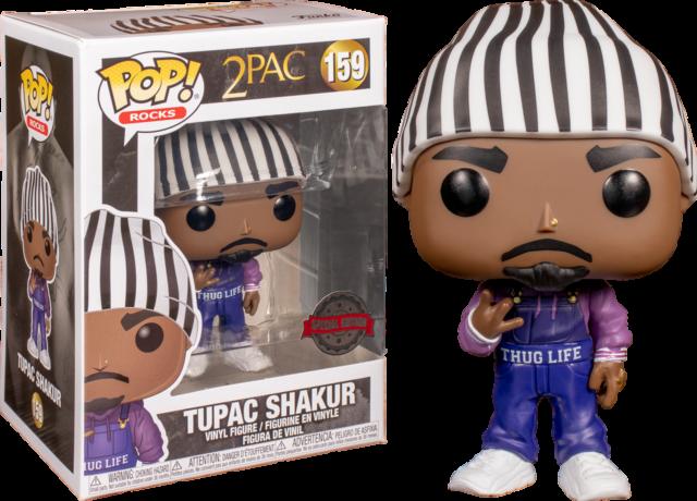 "Rocks Tupac Shakur Funko Pop Protective Tupac #19 Vaulted Rare Grail ""MINT""。"