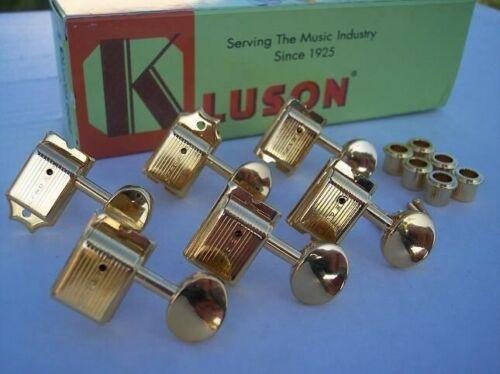 GOLD GENUINE KLUSON DELUXE Tuners for FENDER STRAT TELE STRATOCASTER TELECASTER