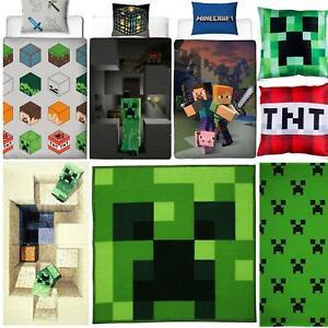 Minecraft Biancheria da letto Creeper PIUMONI Asciugamano Cuscino Coperta-venduta separatamente