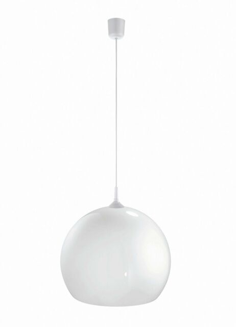 Sfera Lampada a Sospensione Bistroleuchte Ø 35 cm Bianco Retrò Cucina E27