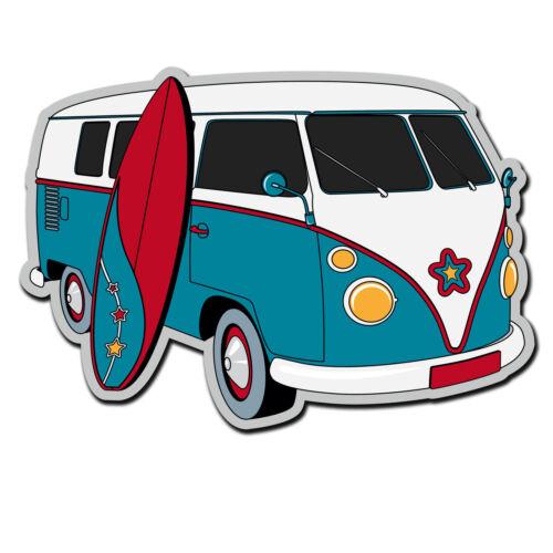 2 x Glossy Vinyl Stickers Camper Van Surf Surfing iPad Laptop Decal #4017