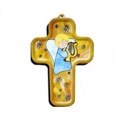 kleines kindgerechtes Kreuz Wand kreuz mit Engel Kinder kreuz mit Engel ..