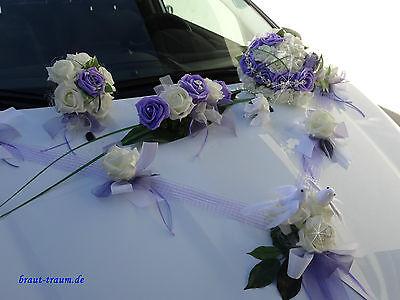 zum Brautkleid Braut Brautstrauss Set Hochzeit Wurfstrauss und Autoschmuck
