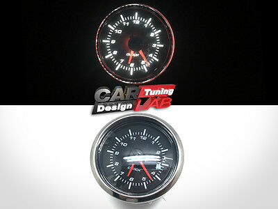 52mm Clock Time Car Auto Yacht Gauge Meter White LED / Clear Lens 12V Waterproof