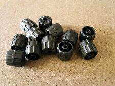 Lego  castle Ninjago 12 x Pearl Silver Wheel Hard Plastic Small 22mm D NEW