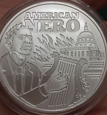 2016 Seven Sins of Obama 1  Oz Proof Silver Shield round //500