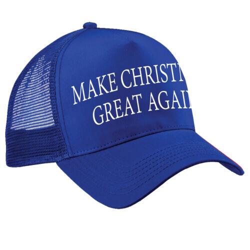 Make CHRISTMAS Great Again TRUCKER Cap Funny Donald Trump Hat America President