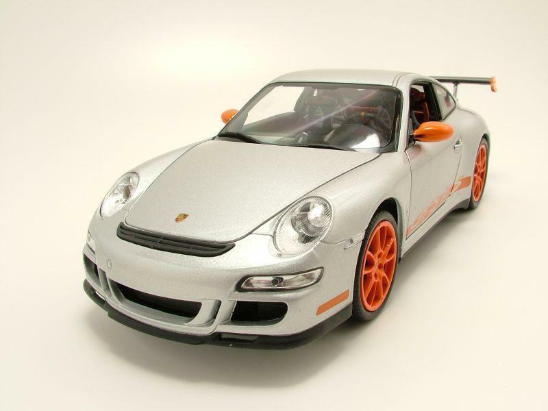 Porsche 911 (997) gt3 rs 2007 argent, Voiture Miniature 1 18 Welly