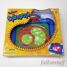 Deluxe Spirograph Set Kit Gears Shape Create Awesome Spiral Designs! Stencil