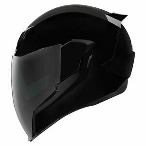 FREE-SHIPPING-Icon-Airflite-Gloss-Black-Full-Face-DOT-Motorcycle-Helmet