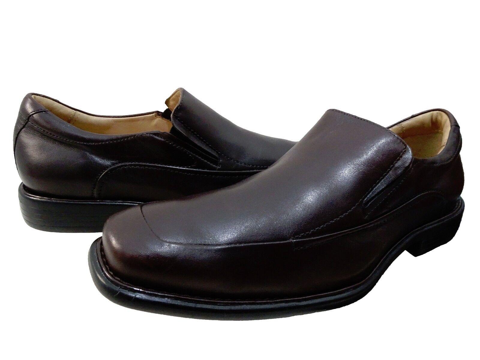 Johnston & Murphy Uomo Tilden Slip On Apron Toe Business Casual Loafers Scarpe