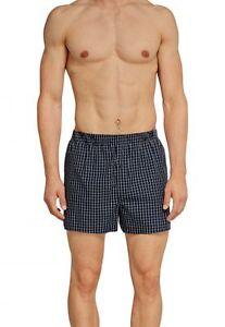 SCHIESSER-POUR-HOMME-BOXER-Web-SHORTS-pantalon-court-Gr-4-5-6-7-8-bleu-neuf