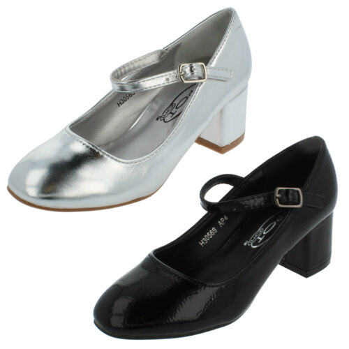 Girls H3R056 Heeled Party Shoes By Spot On Retail Price £14.99