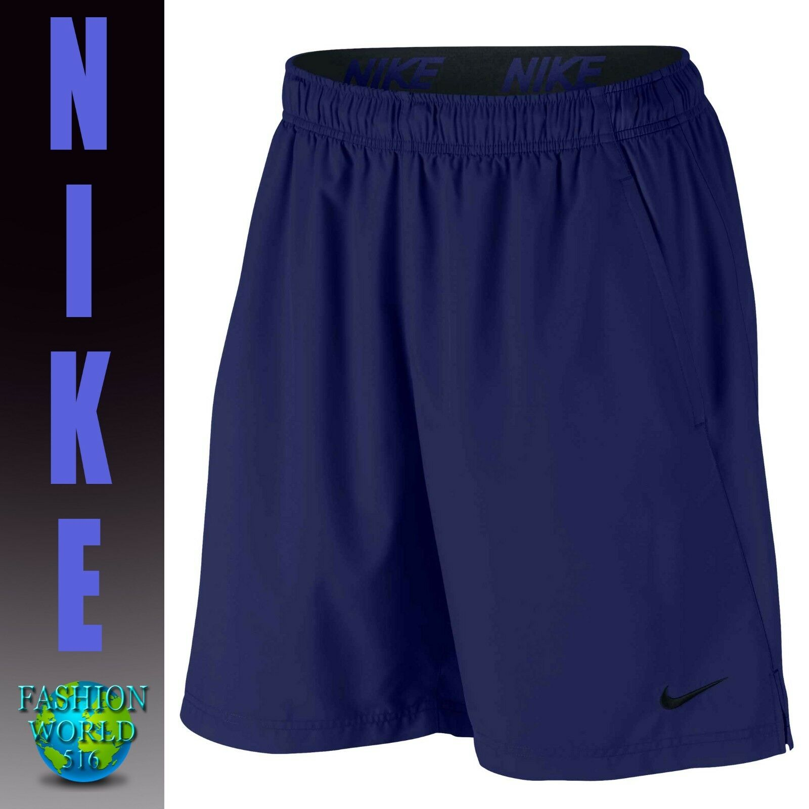 "NIKE FLEX Men/'s 8/"" Training Basketball Shorts 803962 Black White Print  XXL"