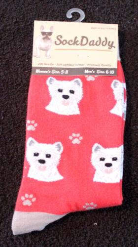 West Highland Terrier Westie Dog Breed Lightweight Stretch Cotton Adult Socks
