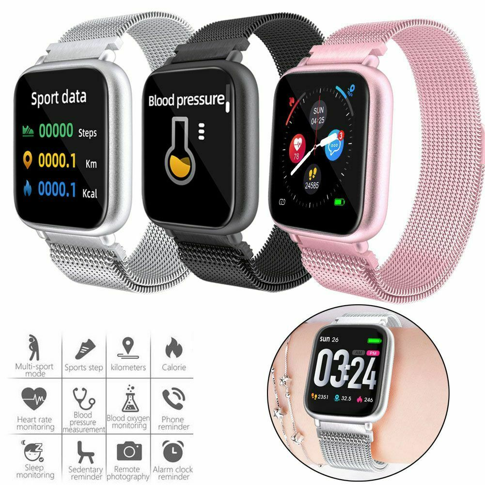 Stainless Steel Heart Rate Monitor Fitness Tracker Bluetooth 5.0 Smartwatch bluetooth Featured fitness heart monitor rate smartwatch stainless steel tracker