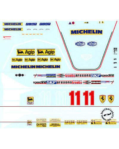 1 12 FERRARI 312T4 DIDIER PIRONI REPLACEMENT DECAL for TAMIYA