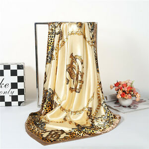 Women-039-s-Leopard-Silk-Satin-Square-Scarves-Office-Fashion-Head-Shawl-scarf-35-35-034