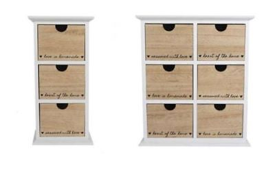 Other Home Organization ''heart Of The Home'' 3,6 Tier Drawer Storage Box Cabinet Table Holder Mdf Unit Outstanding Features Home & Garden