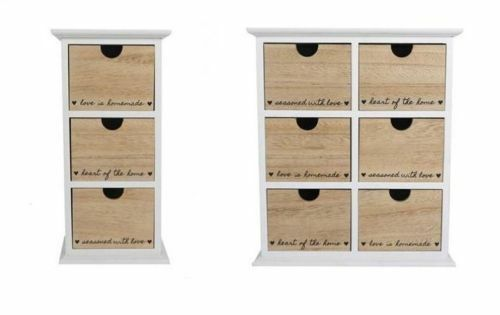 ''heart Of The Home'' 3,6 Tier Drawer Storage Box Cabinet Table Holder Mdf Unit Winst Klein