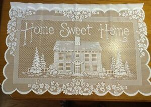 Nice 404 Heritage Lace Ivory House Home Sweet Home Wall Hanging