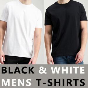 100-Cotton-Mens-Tee-T-Shirt-Crew-Neck-Plain-Casual-Short-Sleeve-Tops-UK-Sizes