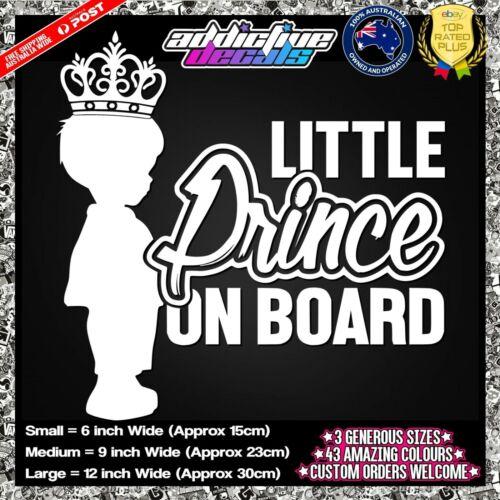 LITTLE PRINCE ON BOARD Baby On Board Vinyl Cut Sticker Decal Car Window Cute
