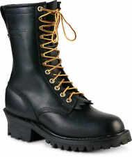 Black Size 9d Plain Toe Whites Boots Hathorn Explorer Nfpa Logger Boot