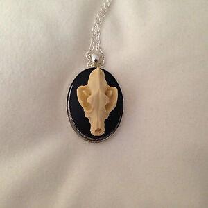 Wolf Necklace Oddity Taxidermy Skull