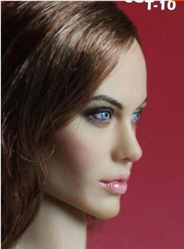 Custom Angelina Jolie 1//6 Head Sculpt for Hottoys Kumik Female Body Maleficent