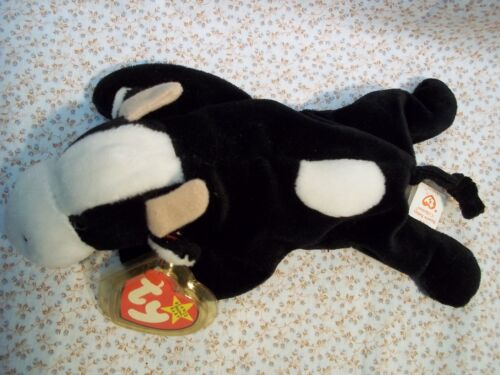 "TY Beanie Babies 9/"" Long Cow ** DAISY **    new w// Tags 5th Generation /'98-2000"