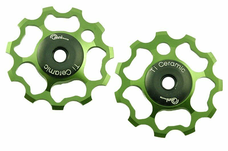 OMNI  Racer Ti Ceramic Derailleur Pulleys Campagnolo Record Super Chorus 11 GREEN  with cheap price to get top brand