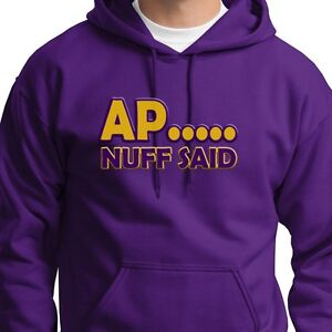 AP NUFF SAID Adrian Peterson Tee jersey Minnesota Vikings #28 Hoodie  for cheap