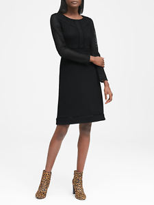 BANANA-REPUBLIC-2018-WOMEN-039-S-267618-BLACK-LACE-FIT-AND-FLARE-DRESS-NWT-6