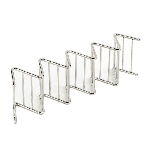 Taco Holder Stainless Steel Taco Stand Mexican Food Rack Shells 1-4 Slots G1HWCß
