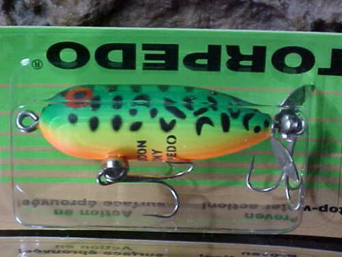 """Heddon 1 7//8/"""" TINY TORPEDO 1//4oz Topwater X0360GRA a Fly or Lite Casting Lure"""