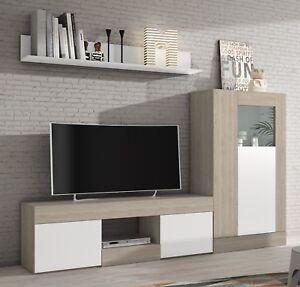 Set muebles modulos salon comedor Karla estilo moderno Mesa TV ...