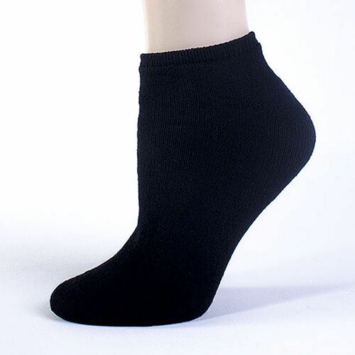SIZE 13-15 SOLID BLACK 12 Pairs Of AMERICAN MADE BRAND MEN/'S NO SHOW SOCKS
