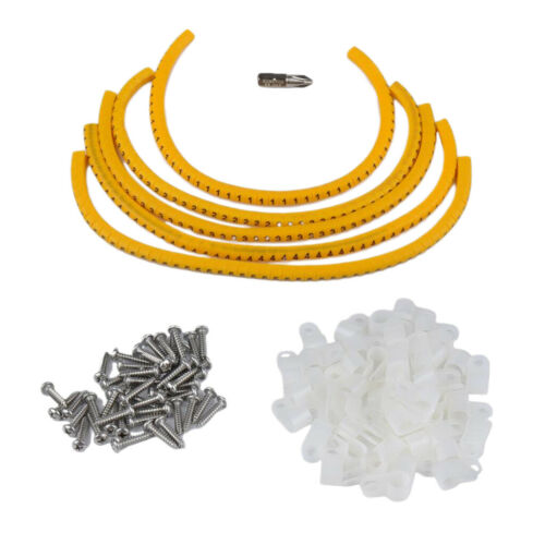 100x Mounting Clips Outdoor Christmas Xmas Rope Light Plastic WHITE