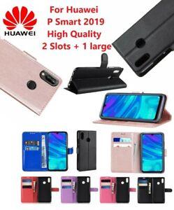 Dettagli su Per 2019 SMART Huawei P PU pelle The Book Stand Custodia Antiurto Portafoglio Flip Cover- mostra il titolo originale