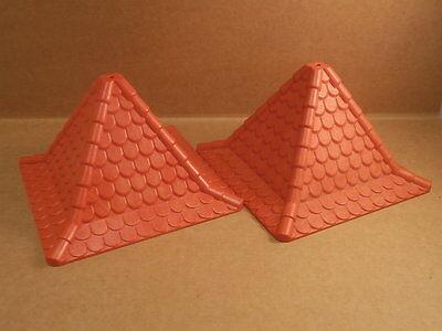 Aggressivo Playmobil Cavalieri 2 Tetto Torre Tetto Rosso Cavalieri Castello #10903-