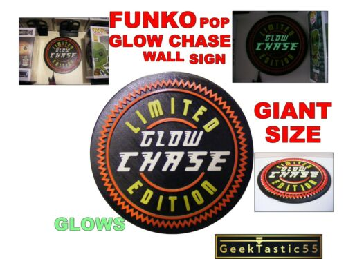 stick to wall display. Funko Pop Glow Chase wall sign Chase funko custom stand