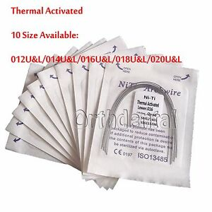 100-PCS-Dental-Orthodontic-Heat-Thermal-Activated-Round-Niti-Archwire-Ovoid-Form