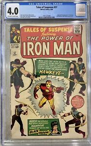 TALES-OF-SUSPENSE-57-CGC-4-0-1ST-APPEARANCE-OF-HAWKEYE-1964-IRON-MAN-AVENGERS