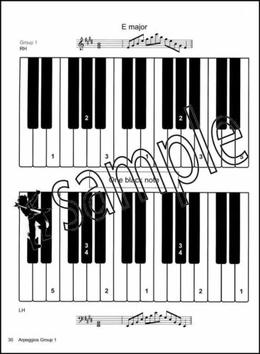 The Key to Scales and Arpeggios Piano Grades 3-4 Sheet Music Book Jane Mann