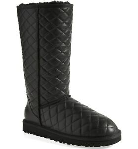 Ugg Australia Classic Iconic Tall Diamond Quilted Boots Us