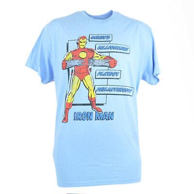 Iron Man Marvel Comics Movie Herren Medium T-shirt Superhelden Philanthropist Festsetzung Der Preise Nach ProduktqualitäT Weitere Ballsportarten