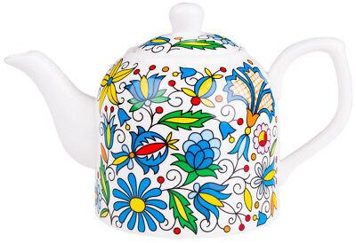 FOLK TEAPOT 0,8L Folk patterns from Kashubian embroidery Floral dishwasher-safe