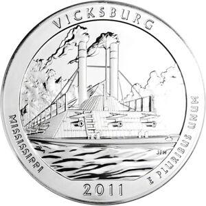 5 oz BU 25C 2011 ATB Gettysburg Silver
